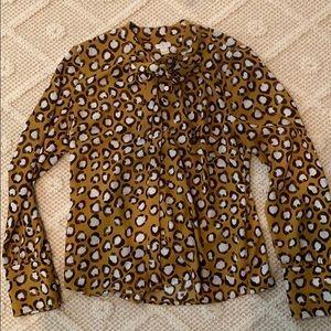 Jcrew print blouse